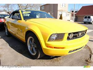 2006 Ford Mustang V6 Deluxe Convertible in Screaming Yellow photo #4 - 142930 | NYSportsCars.com ...