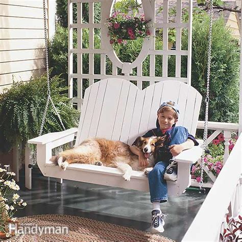 build  porch swing  family handyman