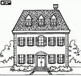 Coloring Attic Pages Dormer Manor Window Facade Printable Floors Bjl Windows Adult Para Minecraft Colorear Casa Dibujos Dibujo Houses Edificios sketch template