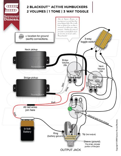 seymour duncan blackouts schematic seymour duncan screamin