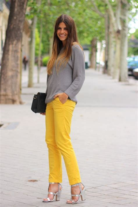 Yellow Pants Outfit Going To Hit 2018 Spring/Summer Trends u2013 Designers Outfits Collection