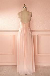 robe longue voile rose pale buste decollete plongeant With robe rose et grise