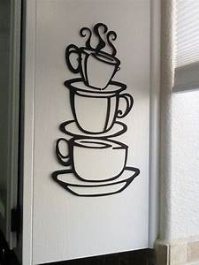 coffee house cup java silhouette wall art metal mug With kitchen colors with white cabinets with coffee wall art decor