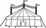Tent Circus Coloring Pages Drawing Camping Printable Amusement Drawings Getdrawings Cartoon Inside sketch template