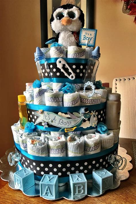 penguin diaper cake shower baby shower cakes baby