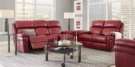 red living room sets maroon