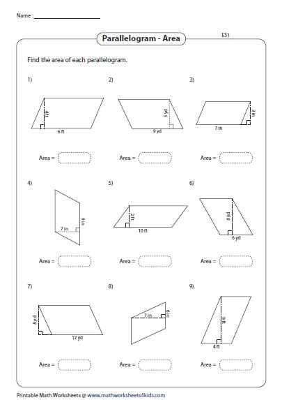 area of a rhombus worksheet www pixshark images