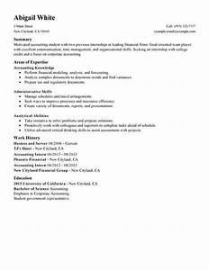 Training internship college credits resume examples free for College internship resume