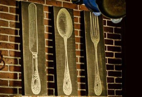 fork spoon and knife wooden sign for the home pinterest