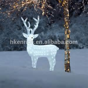120cm led light up acrylic reindeer outdoor decoration buy white reindeer