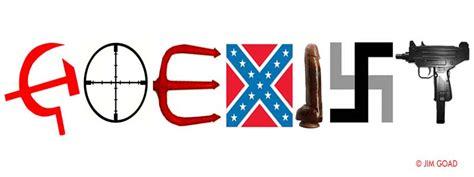 meaning of sieg goadville coexist sticker
