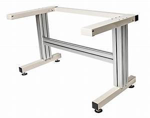 Cantilever Manual Adjustable Height Work Table Frame