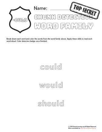 ould family words chunk detective primarylearningorg