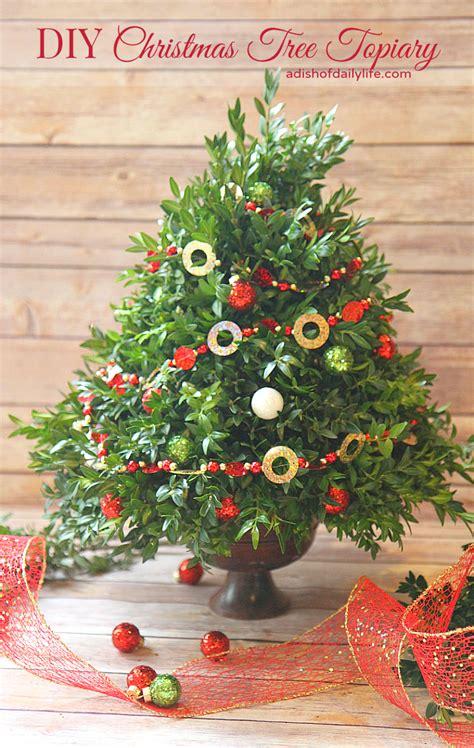 diy christmas tree topiary diy home decor ideas