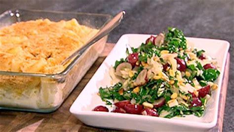 macaroni au vieux cheddar et salade de bette 224 carde