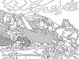 Coloring Pages Mountain Mountains Printable Colorado Range Adult Sheet Space Avalanche Colouring Sheets Rockies Geology Geologic Scale Template Dinger Flatirons sketch template