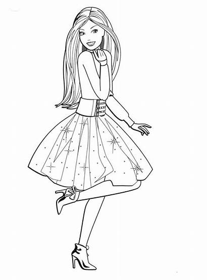 Barbie Coloring Pages Printable Dolls Sisters Pony