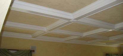 create  faux coffered ceiling doityourselfcom