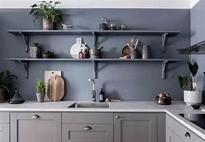 Blue, Kitchen, Wall