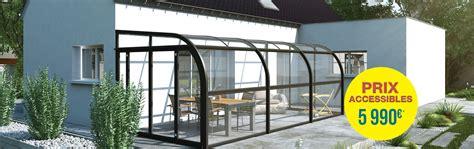 abri de terrasse tendanz en verre rideau