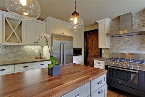 silver travertine marble backsplash country kitchen