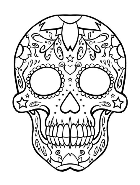 skull pattern  children  skull coloring pages