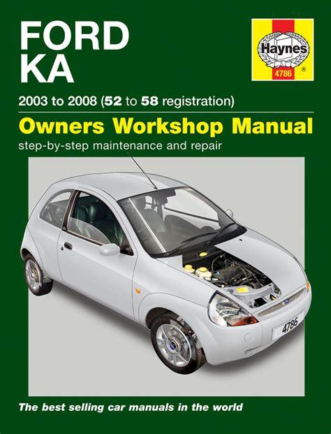 haynes  ford ka      workshop manual