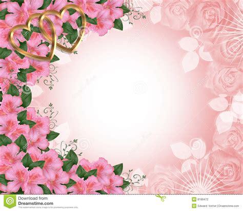 valentine  wedding border pink stock illustration