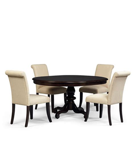 bradford 5 piece round dining room furniture set with