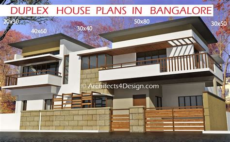 G+1 Home Design : Duplex House Plans In Bangalore On 20x30 30x40 40x60 50x80