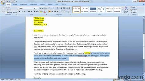prepare  mail merge letter lyndacom tutorial
