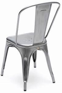 Chaise Metal Tolix : chaise a finition acier m tal tolix ~ Teatrodelosmanantiales.com Idées de Décoration