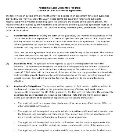 Template Personal Guarantee Agreement Template Personal Loan Agreement Template 12 Free Word Pdf