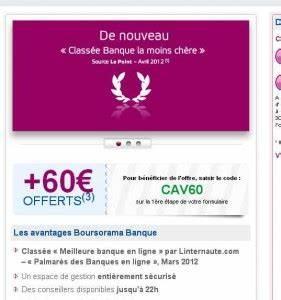 Deposer Cheque Boursorama : 60 euros offerts pour l 39 ouverture d 39 un compte courant chez boursorama ~ Medecine-chirurgie-esthetiques.com Avis de Voitures