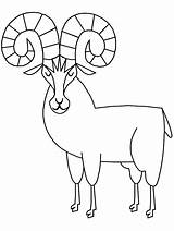 Sheep Coloring Bighorn Pages Animals Ram Printable Drawings Clipart Template Cliparts Cartoons Clip Coloringpagebook Advertisement Popular sketch template