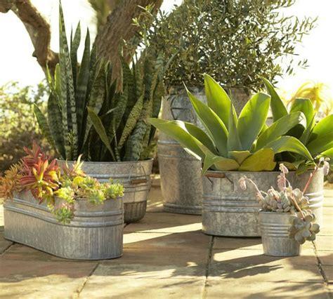 Galvanized Metal Tubs Buckets Pails Planters