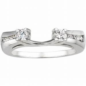 traditional style classic wedding ring wrap sterling With cubic zirconia wedding ring enhancers