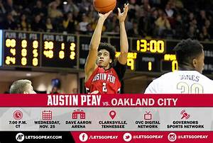APSU Governors Basketball host Oakland City Mighty Oaks ...