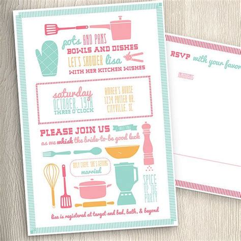 kitchen invitation cards design kitchen cooking theme bridal wedding shower invitation 8381