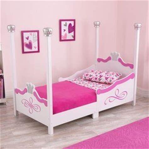 kidkraft princess toddler bed silver 86945 toddlers