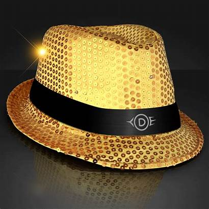 Fedora Flashing Hat Sequin Led Hats Class