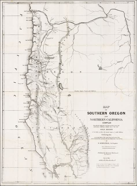 map  southern oregon  northern california compiled