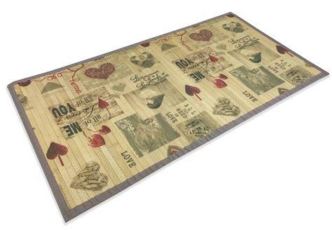 tappeto cucina tappeto cucina in legno bamboo shabby cuore me misura