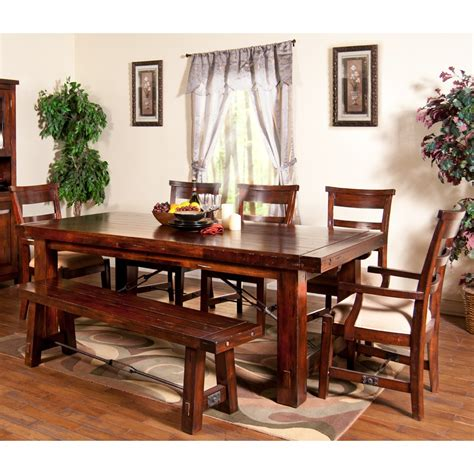rectangle table with chairs vineyard wood rectangular dining table chairs in rustic