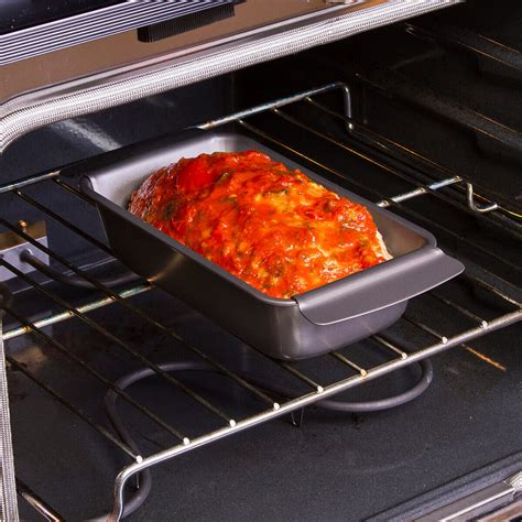 bakeins    healthy meatloaf pan set ecolution cookware