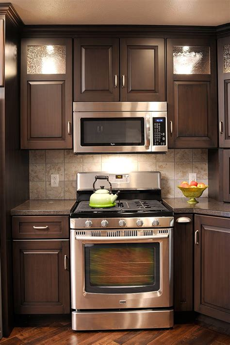 mullet cabinet brown condominium kitchen