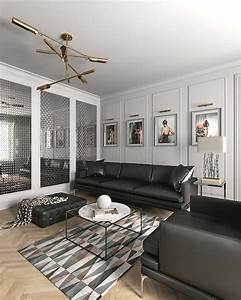 idee deco salon le salon en style scandinave With tapis enfant avec canape gris style scandinave