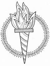 Torch Pages Coloring Printable Mycoloring sketch template
