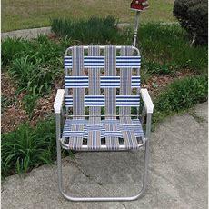 Sunbeam Webbed Aluminum Folding Lawn Chair Patio Beach