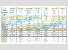 24 7 Shift Schedule Template planner template free